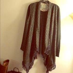 ANTHRO | SATURDAY SUNDAY Flannel Tasseled Cardigan